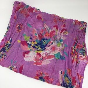Accessories - Pink Multi Color Floral Infinity Scarf